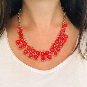 Francesca's. Red statement necklace.